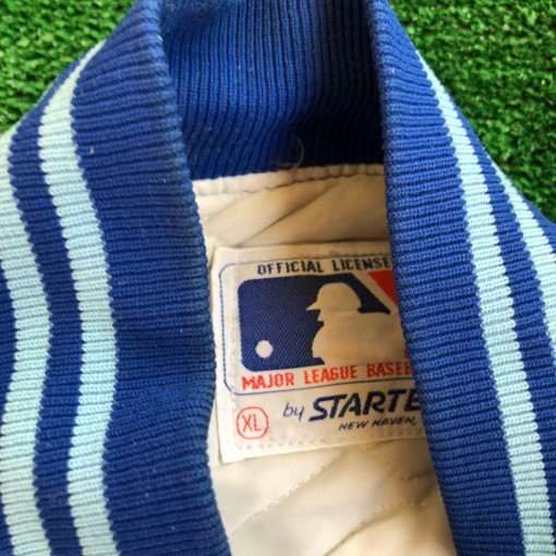 vintage 90's Toronto blue jays starter satin mlb jacket size xl