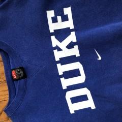 vintage duke blue devils nike crewneck sweatshirt size large