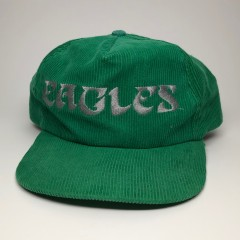 vintage 80's corduroy philadelphia eagles snapback hat