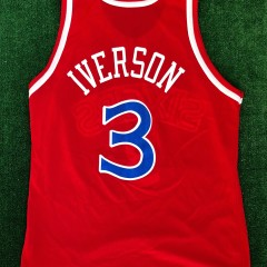 1997 Allen Iverson Philadelphia 76ers Champion NBA Jersey Size 44