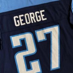 2002 Eddie George Tennessee Titans Reebok NFL Jersey Size XL