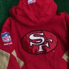 90's San Francisco 49ers Starter Pullover NFL Jacket Size Medium