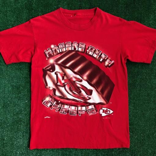 1995 Kansas City Chiefs Nutmeg NFL T Shirt Size Medium