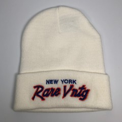 "Rare Vntg ""New York"" City Series Cuffed Knit Beanie Hat"