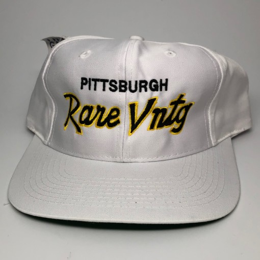 Rare Vntg pittsburgh City Series Vintage The Game Snapback Hat