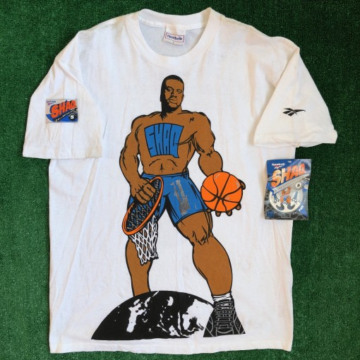 90's Shaq Collector Series #3 Reebok T Shirt Size Large