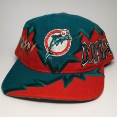 vintage 90s miami dolphins nfl snapback hat