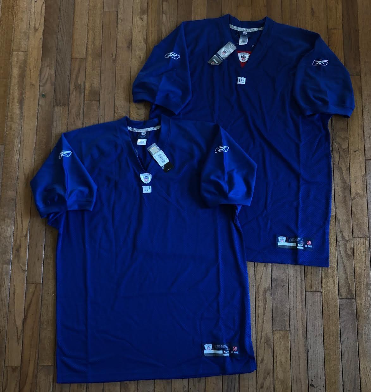 00's New York Giants Authentic Reebok Blank NFL Jersey Size 54